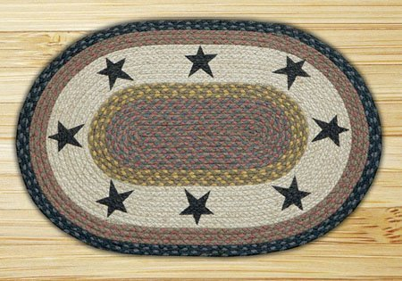 Stars Oval Braided Rug 27