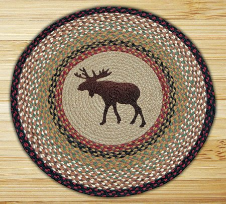 Moose Braided and Printed Round Rug 27