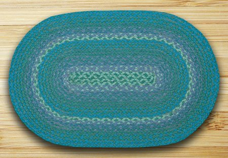 Teal In The City Oval Rug 20
