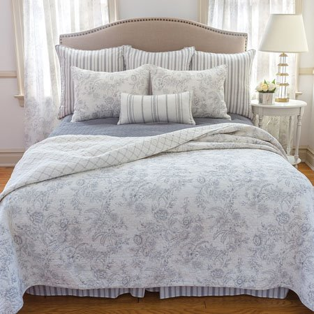 Clementina Cement Twin Quilt