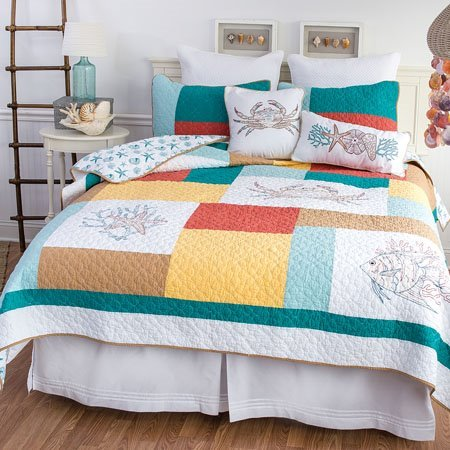 Coral Gables Full Queen Quilt