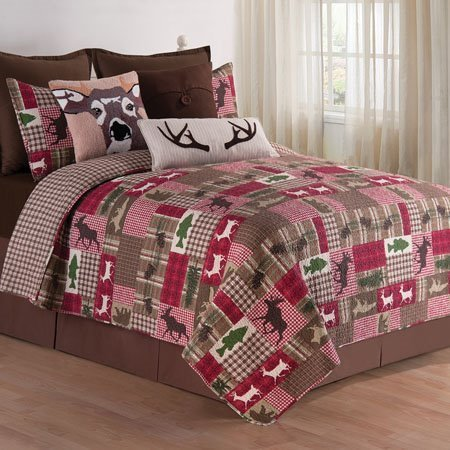 Happy Camper King 3 Piece Quilt Set