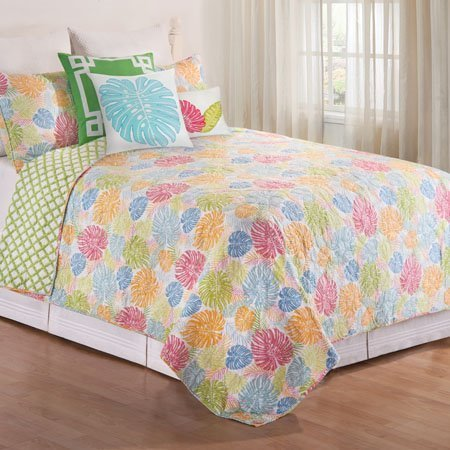 Palm Beach Full Queen 3 Piece Quilt Set