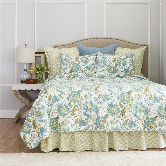 Adrienne Meadow Queen Bedskirt