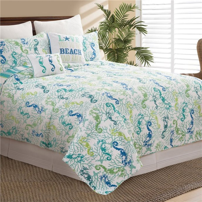 Aquarius King 3 Piece Quilt Set