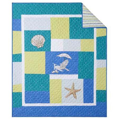 Blue Oasis Quilted Throw