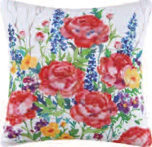 Veranda Flower Bouquet Pillow