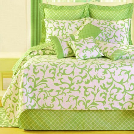 Serendipity Green Twin Quilt