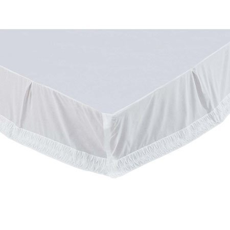 Adelia White King Bed Skirt 78x80x16
