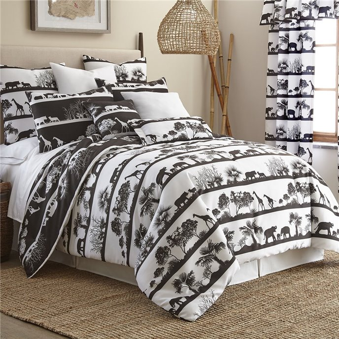 African Safari Comforter Set Reversible Full