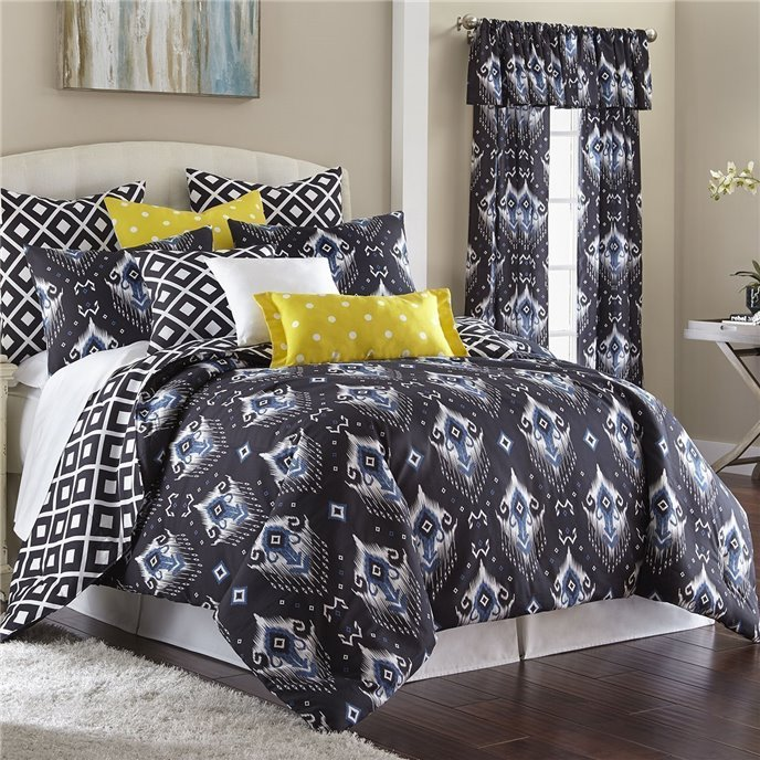 Blue Falls Duvet Cover Set Reversible Super Queen