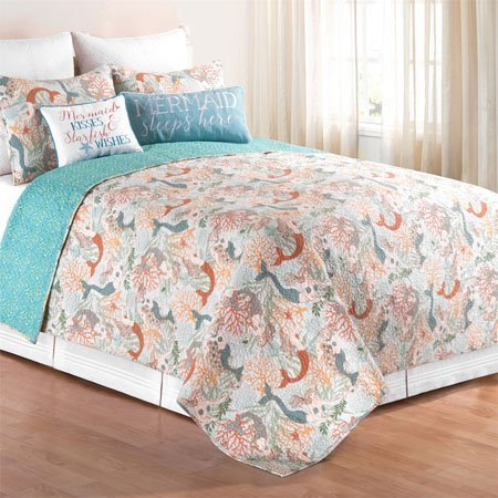 Dancing Waters Twin 2 Piece Quilt Set