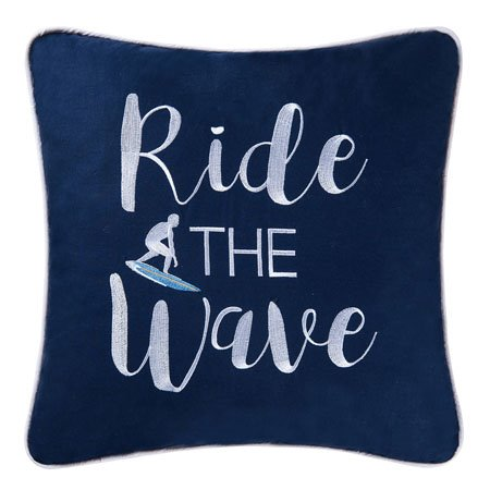 Surfer's Cove Ride the Wave Pillow