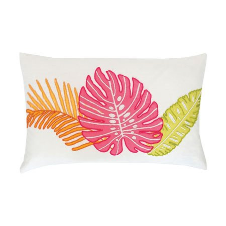 Palm Beaded 3 Leaf Pillow