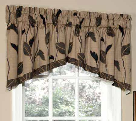 Yvette Lined Crescent Swag Valance