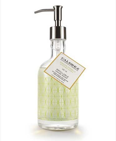 Caldrea Ginger Pomelo Glass Refillable Hand Soap