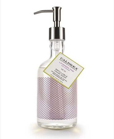 Caldrea Lavender Pine Glass Refillable Hand Soap