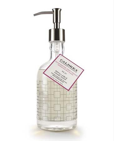 Caldrea Rosewater Driftwood Glass Refillable Hand Soap