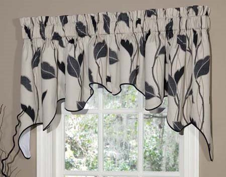 Yvette Eclipse Lined Empress Swag Valance
