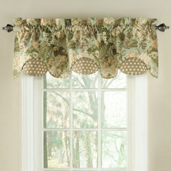 Waverly Garden Glory Scalloped Floral Valance