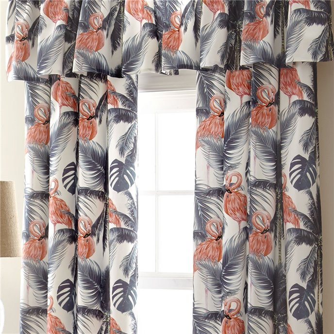 Flamingo Palms Drapery Panel - Each