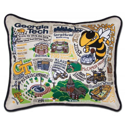 Georgia Tech Embroidered Pillow