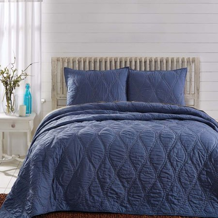 Harbour Navy Twin Quilt 86x68