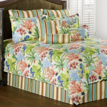 Island Breeze Twin size 7 piece Comforter Set