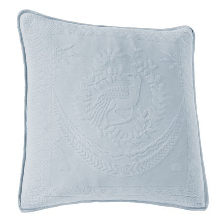 King Charles Matelasse Blue 20 inch Decorative Pillow