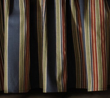 Wakefield Stripes Queen Bedskirt for Wakefield Floral Quilt