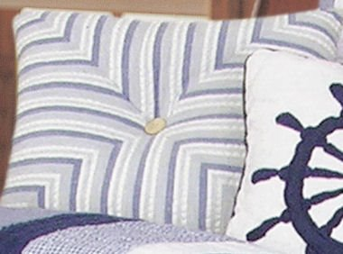 Nantucket Dream Miter Striped Pillow