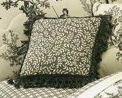 Bouvier Black Leaf 14 inch Square Pillow