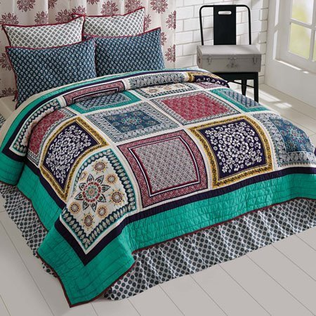 Mariposa Queen Set; Quilt 90x90-2 Shams 21x27