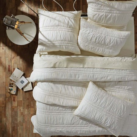 Natasha Pearl White King Set; Quilt 95x105-2 Shams 21x37