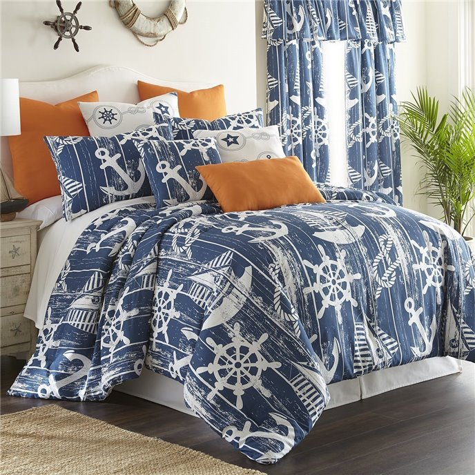 Nautical Board Duvet Cover Set (non-reversible) California King