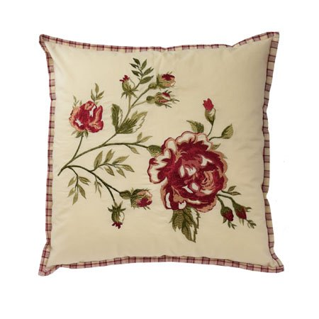 Waverly Norfolk 20 inch Embroidered Decorative Accessory Pillow