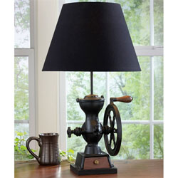 Coffee Grinder Lamp with Shade