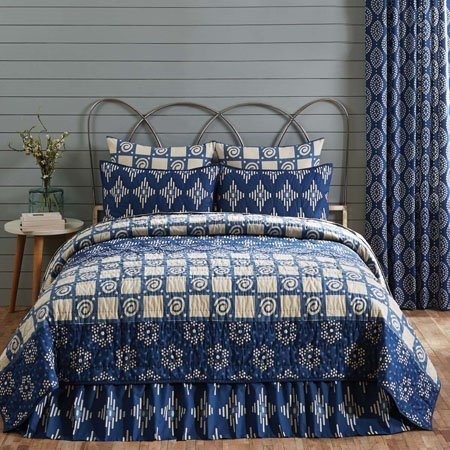 Paloma Indigo Luxury King Quilt 105x120