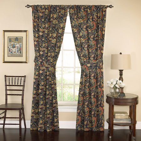 Waverly Rhapsody Floral Drapery Pair