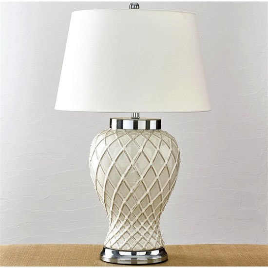 Trellis Ceramic Lamp