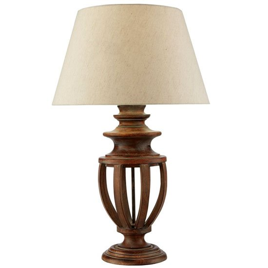 Open Urn Wood Lamp