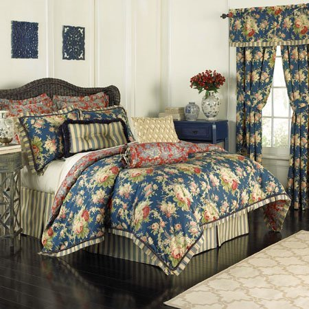Waverly Sanctuary Rose 4 Piece King Bedding Collection