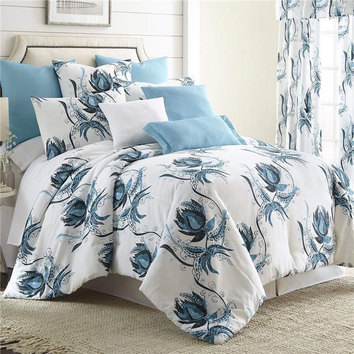 Seascape Comforter Set  King