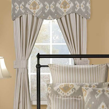 Taos Stripe Drapes with Tiebacks