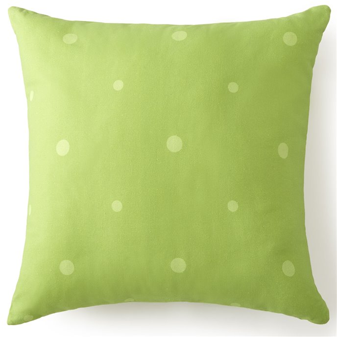 Tropic Bay Square Cushion - Green Polka Dot 20