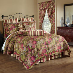 Waverly Floral Flourish Cordial 4 Piece Queen Bedding Collection