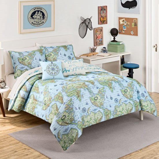 Waverly Kids Buon Viaggio Reversible Twin Size Bedding Set