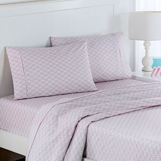 Waverly Kids Chantal Pink Medallion Twin Size Sheet Set