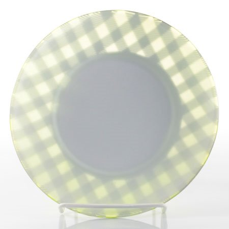 Yankee Candle Lime Gingham Candle Plate