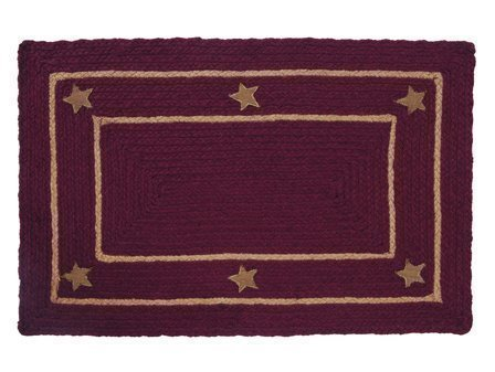 Burlap Star Wine Rectangular 22 X 72 Rug